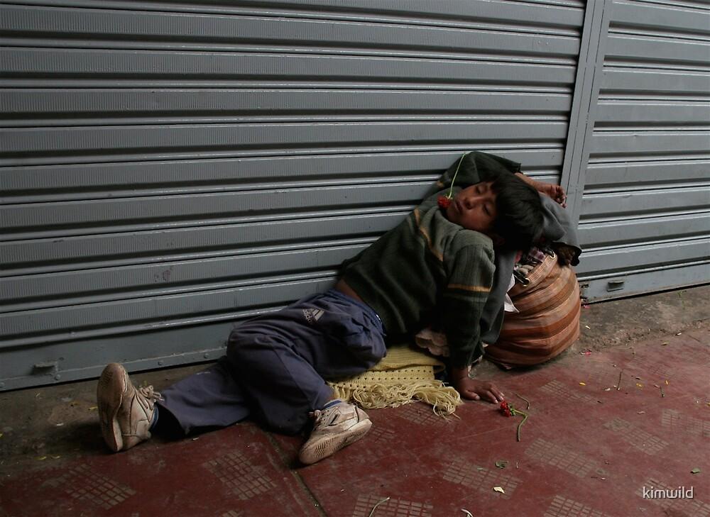 Sleeping Bolivian child by kimwild