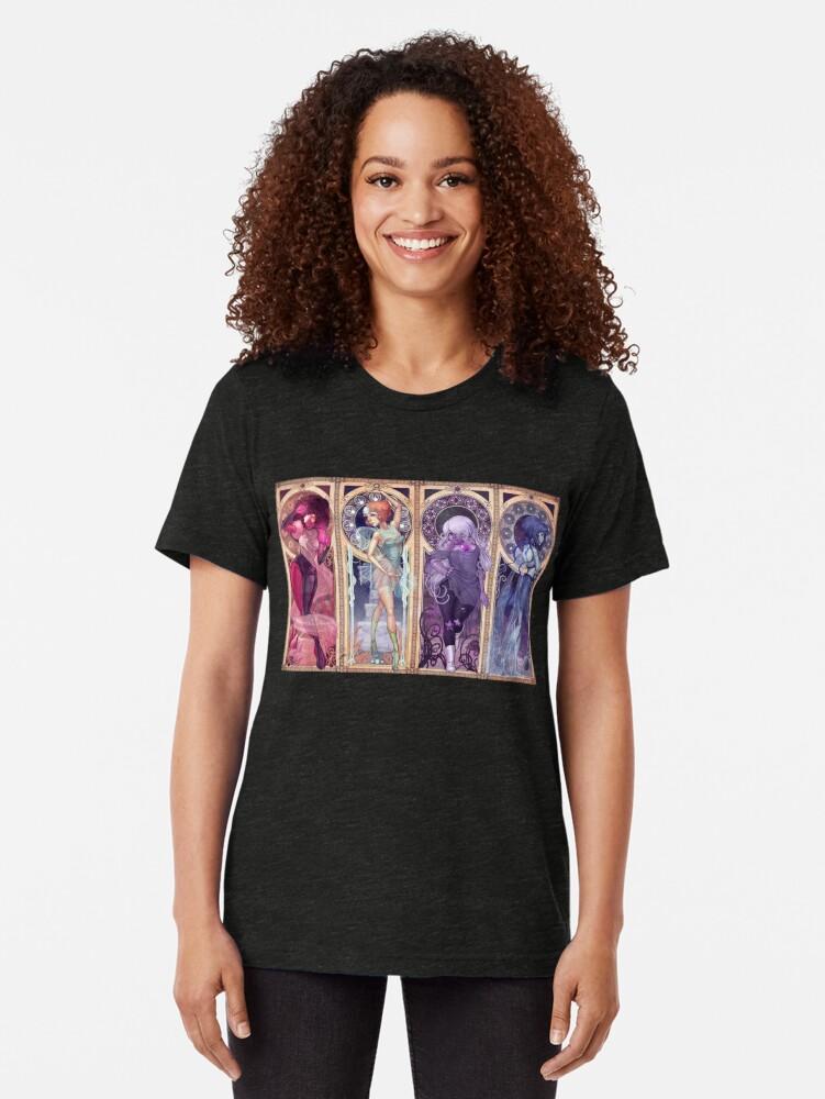 Alternative Ansicht von Jugendstil-Edelsteine Vintage T-Shirt
