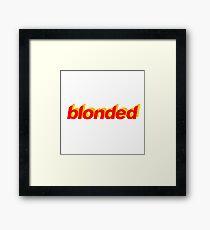 Frank Ocean Blonded Red/Yellow Framed Print
