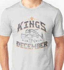 Legends Kings are born in december T-Shirt