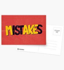 Make mistakes Postcards