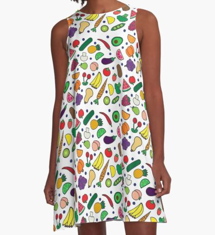 Fruits and Veggies! A-Line Dress