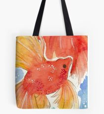 Watercolor Goldfish Tote Bag