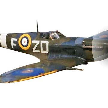 SPITFIRE, British, Airplane, Fighter, WWII, 1942, Spitfire VB, 222 Squadron, cut out by TOMSREDBUBBLE