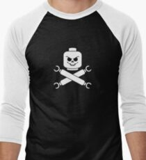 Plastic Pirate Men's Baseball ¾ T-Shirt