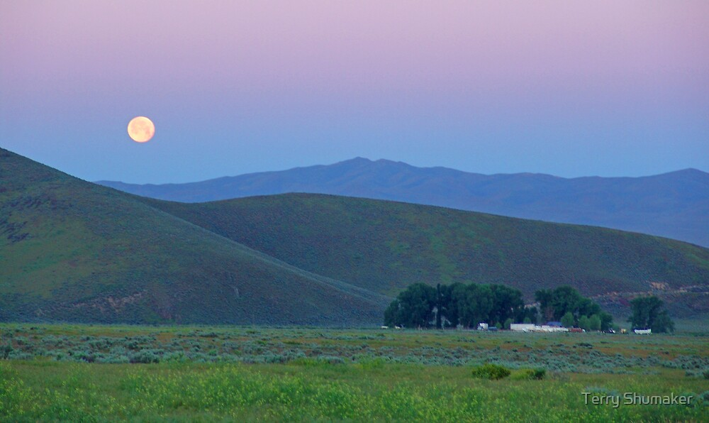 Moonset by Terry Shumaker
