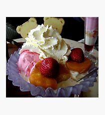 Ice Cream and Fruit Photographic Print