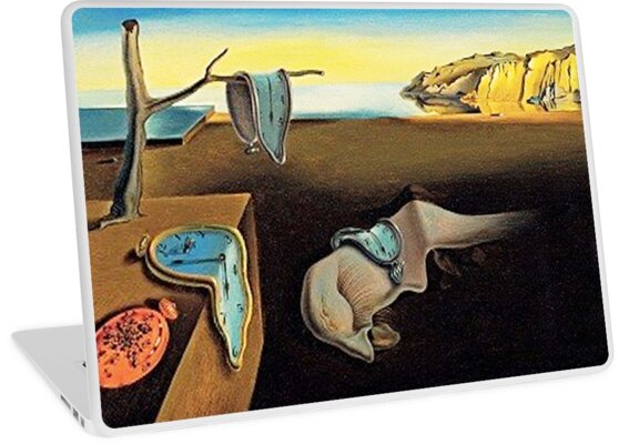 dali salvador dali die best ndigkeit der erinnerung 1931 laptop skins von tom hill. Black Bedroom Furniture Sets. Home Design Ideas