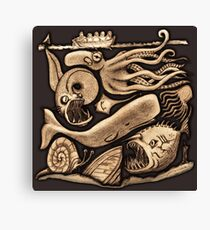 There be Sea Monsters Canvas Print