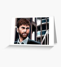 Alec Hardy Police Station Broadchurch David Tennant Greeting Card