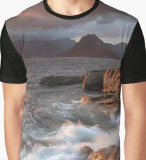 Elgol Stormy Sunset Graphic T-Shirt