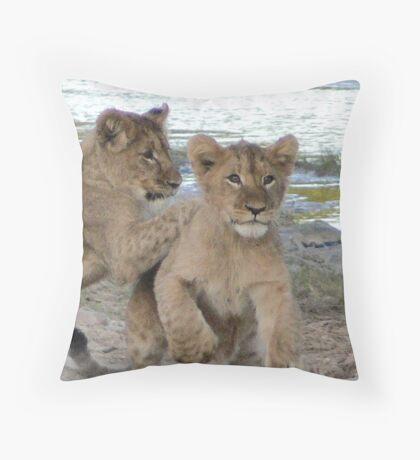 Tackle!! Throw Pillow