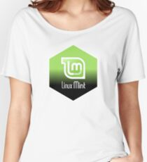 linux mint hexagonal Women's Relaxed Fit T-Shirt