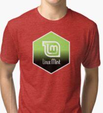 linux mint hexagonal Tri-blend T-Shirt