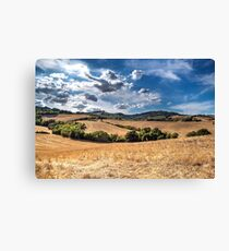 Hill blue sky clouds Canvas Print