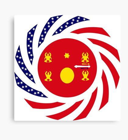 Hmong American Multinational Patriot Flag Series 1.0 Canvas Print