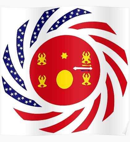 Hmong American Multinational Patriot Flag Series 1.0 Poster