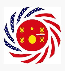 Hmong American Multinational Patriot Flag Series 1.0 Photographic Print