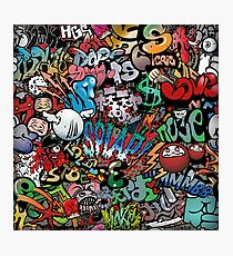 Graffiti Trash Photographic Print