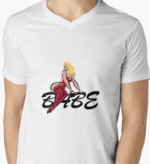 Vintage Blond Babe  Men's V-Neck T-Shirt