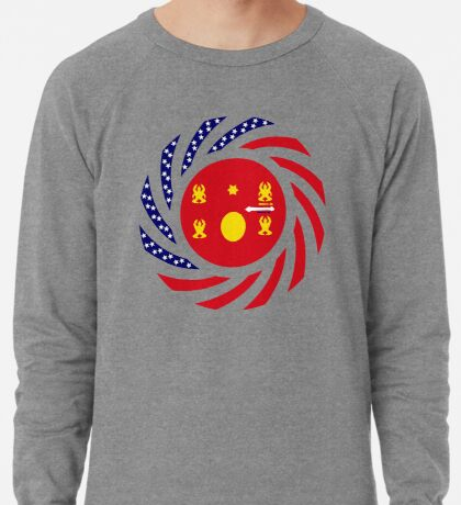 Hmong American Multinational Patriot Flag Series 1.0 Lightweight Sweatshirt