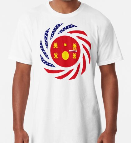 Hmong American Multinational Patriot Flag Series 1.0 Long T-Shirt