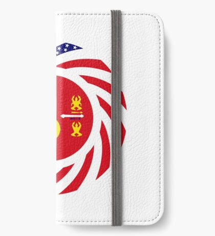 Hmong American Multinational Patriot Flag Series 1.0 iPhone Wallet