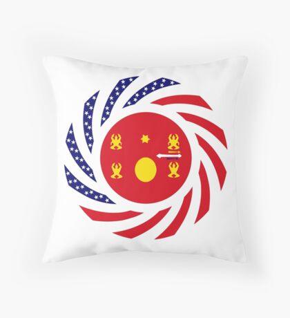 Hmong American Multinational Patriot Flag Series 1.0 Throw Pillow