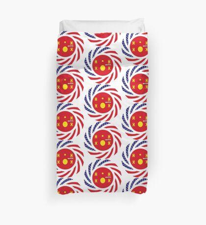 Hmong American Multinational Patriot Flag Series 1.0 Duvet Cover