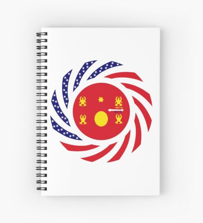 Hmong American Multinational Patriot Flag Series 1.0 Spiral Notebook