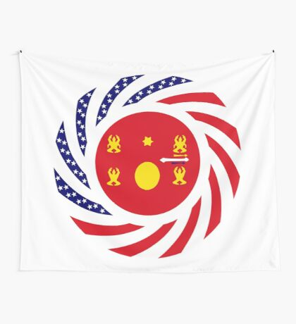Hmong American Multinational Patriot Flag Series 1.0 Wall Tapestry