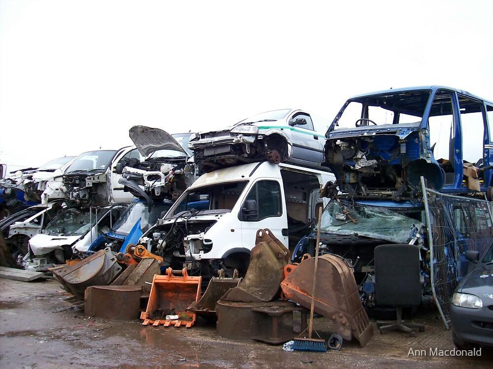 scrap yard junk by Ann Macdonald