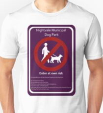 Nightvale Dog Park Sign Unisex T-Shirt