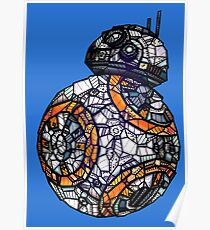 BB-8 - Star Wars Rogue One - Stained Glass Art Poster