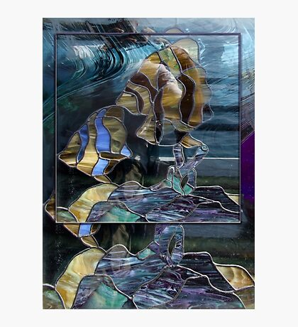 Stained Glass Fish Photographic Print