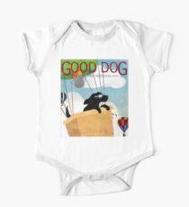 Good Dog Hot Air Balloon Festival dogs in flight One Piece - Short Sleeve