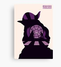 Yoda: Empire stikes back retro Canvas Print