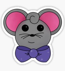 Mouse with bow tie aqua background Sticker