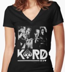 KARD Women's Fitted V-Neck T-Shirt