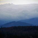 Fog on the mountain by John Schneider