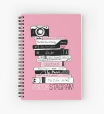 #BOOKSTAGRAM - Stack of Books (Pink) Spiral Notebook