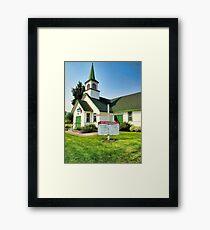 Lakeside Community Church,  Montana Framed Print