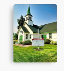 Lakeside Community Church,  Montana Canvas Print