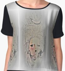 MARIE ANTOINETTE MANNEQUIN by Jacqueline Mcculloch  for House of Harlequin Women's Chiffon Top