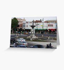 Bendigo Fountain, Bendigo, Bird's Eye View. Greeting Card