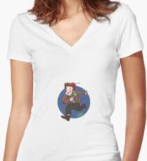 Chin Boy - Eleventh Doctor Women's Fitted V-Neck T-Shirt