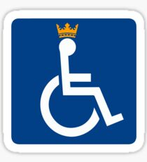 Disability King Sticker