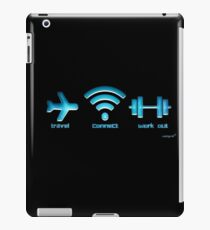 Travel, Connect, Work Out iPad Case/Skin