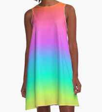 Pastel Rainbow Gradient A-Line Dress