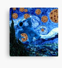 Cookie Monster Starry Cookie Night Canvas Print